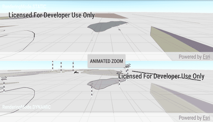 Image of feature layer rendering mode scene