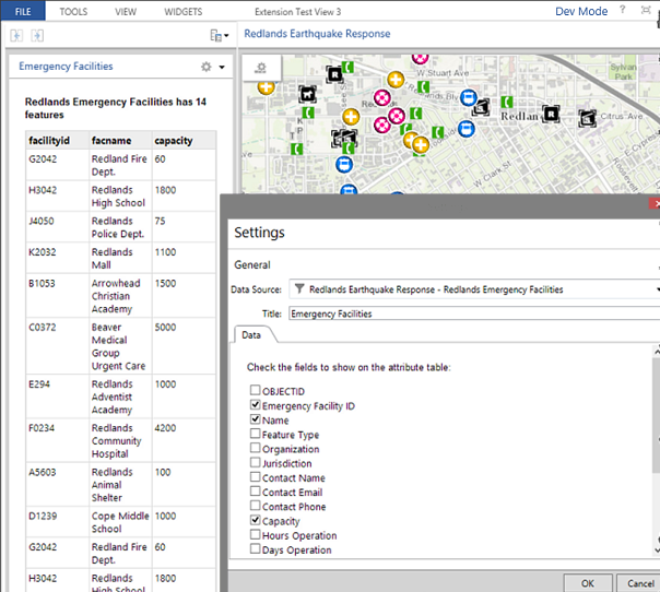 Create a configurable widget guide arcgis api for for Table design javascript