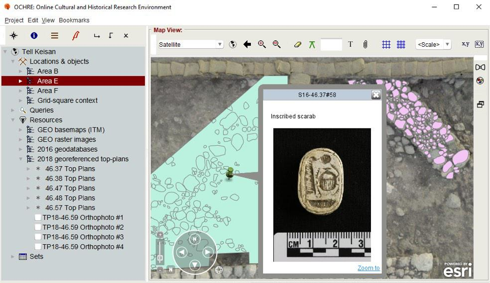 Online Cultural and Historical Research Environment (OCHRE®) application screenshot